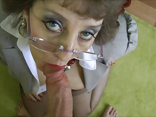 Stockings Grandma fucked in place suit